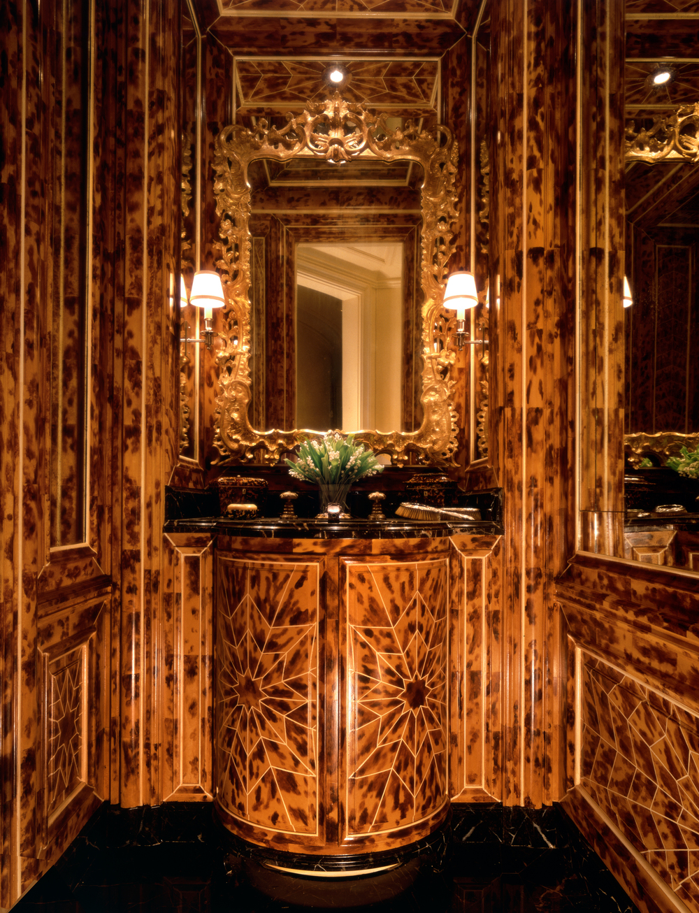 TORTOISE SHELL  POWDER ROOM