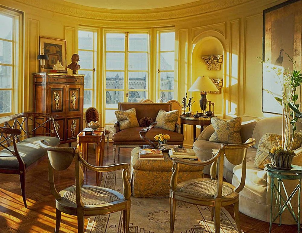 Paul Wiseman's Living room at  The Chambord Apartments