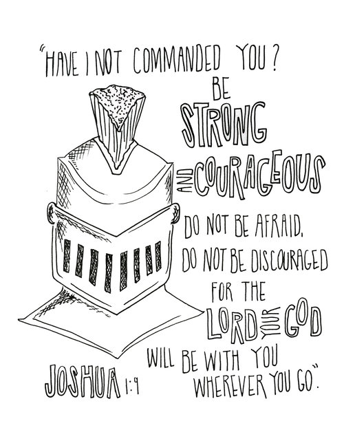 Joshua 1 9 PRINT Scripturedoodle
