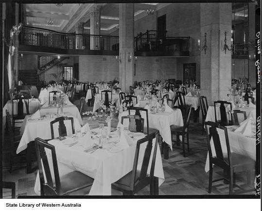 Adelphi Hotel Dining Room, 1936