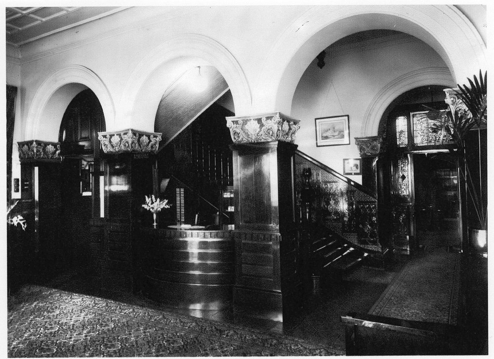 Foyer and staircase, 1934