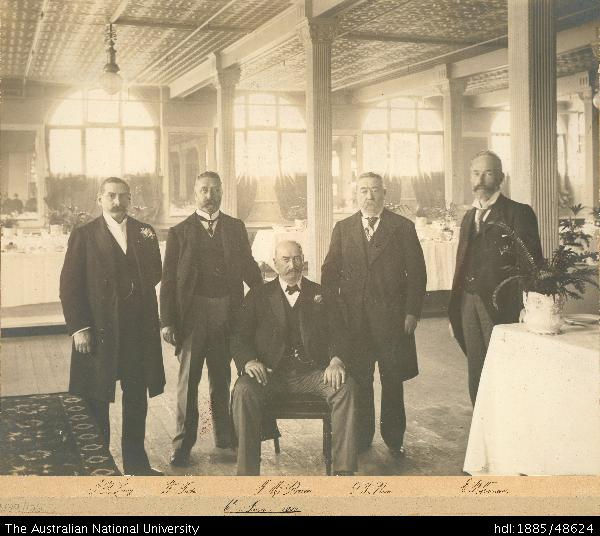 J R Laing, W Trotter, J M Bruce, G W Bruce and EP Truman of Paterson, Laing and Bruce Ltd, 1900