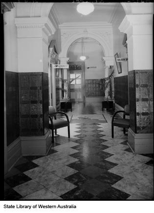 Hallway of hotel, 1953