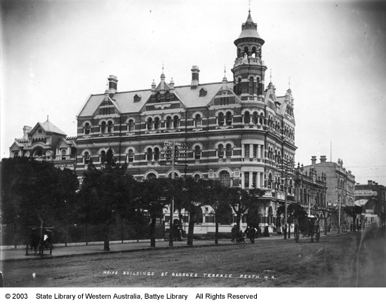 Moir's Buildings, St George's Terrace, Perth WA, Early 1900's