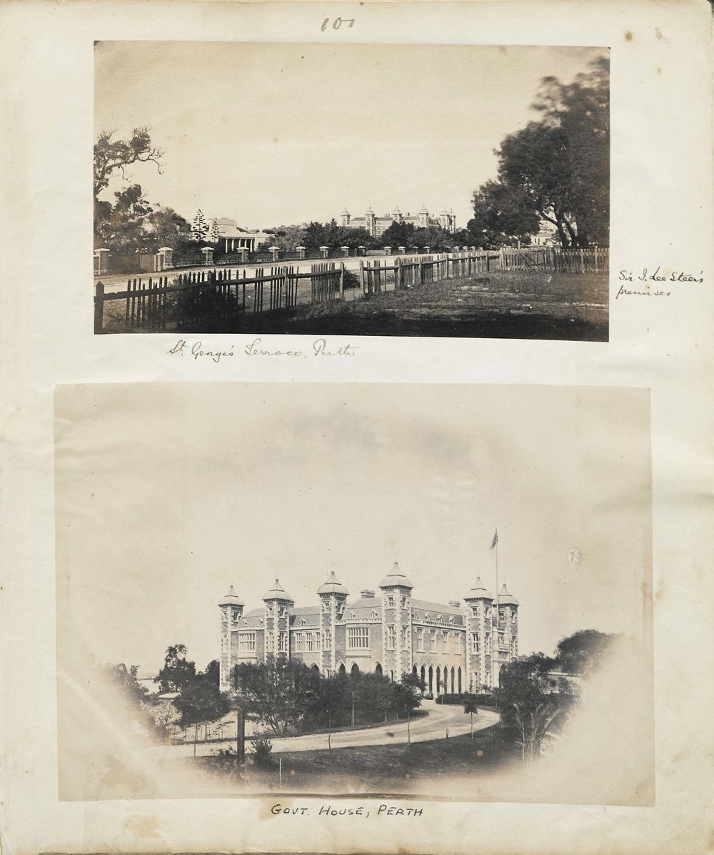 Top: Old Government house (left), New Government House (right)
