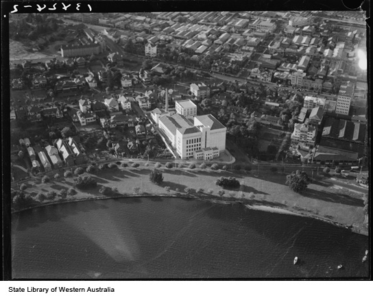 Emu Brewery from the air, 1938