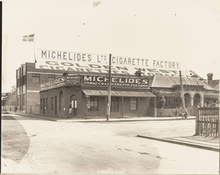 Michelides Tobacco & Cigarette Factory, ca 1925
