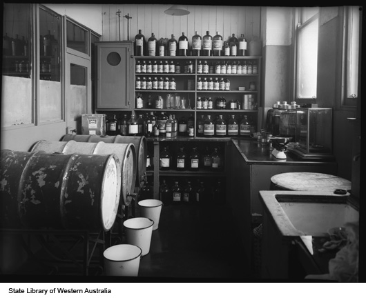 Laboratory at Michelides, Ltd, 1951