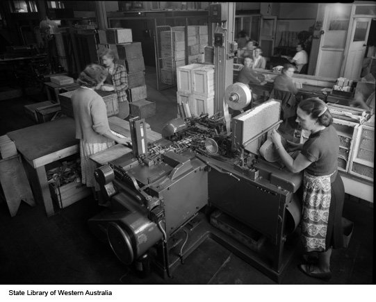 Cigarette paper production, 1951
