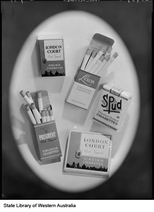 Packets of cigarettes, produced by Michelides Ltd, 1951