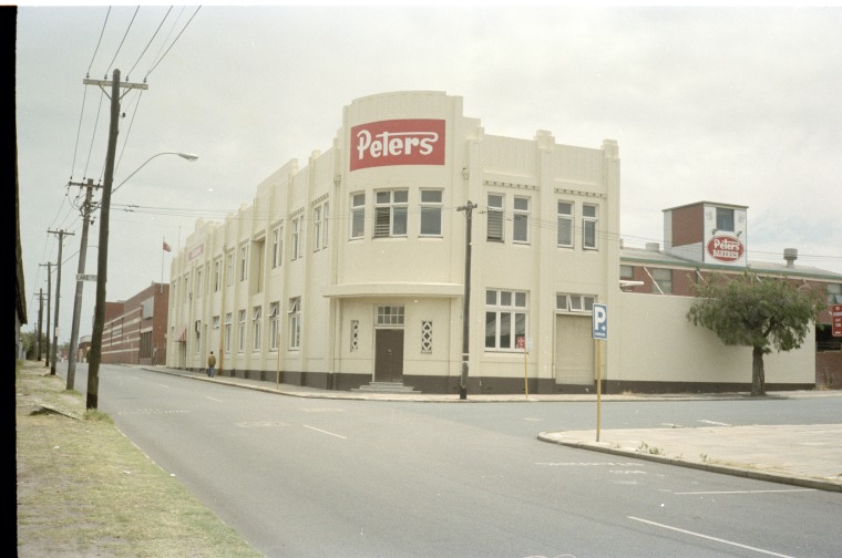 Peters Ice Cream factory (former Michelides Tobacco Factory), 1983