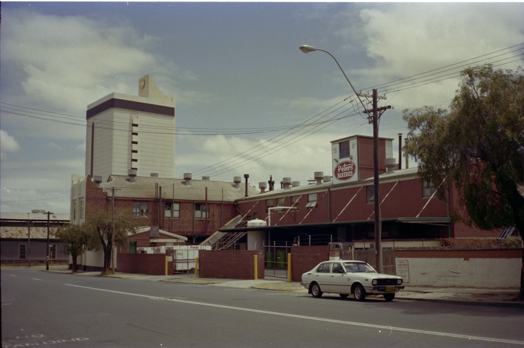 Rear of Peters Ice Cream factory, 1983