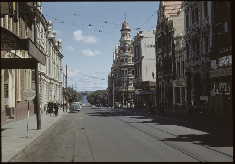 T & G Buildings (centre right), 1953.