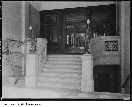 Entrance to the Adelphi Hotel, 1936