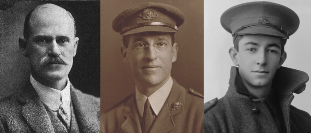 The men represented in the firm Oldham, Boas & Ednie-Brown, L-R: Charles Oldham, Harold Boas and Colin Ednie-Brown.
