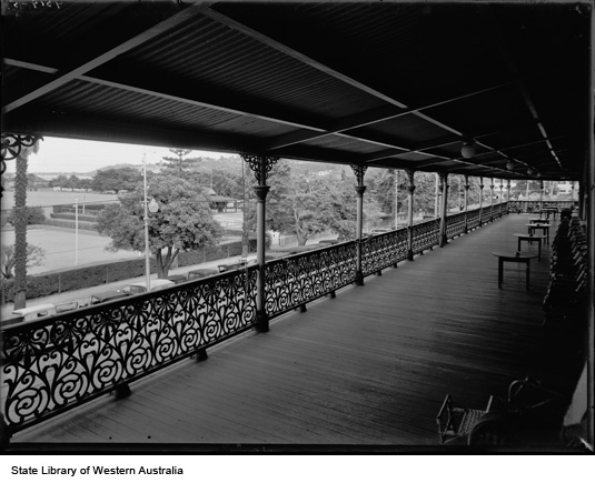 Veiw from Esplanade Hotel balcony, 1934