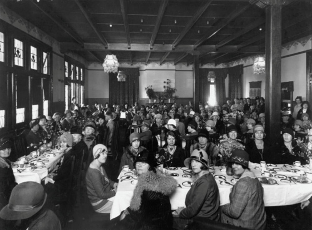 First business women's luncheon held by Women's Service Guilds