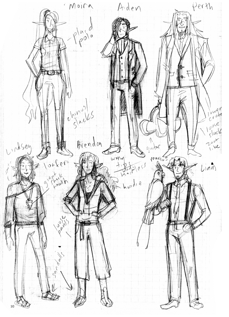 Outfits redesigns for Chapter 9: Housewarming