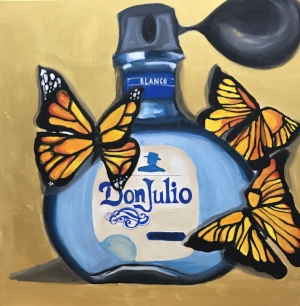 Eau De Toilette   30 X 30 inches  Acrylic on Canvas  $1,950