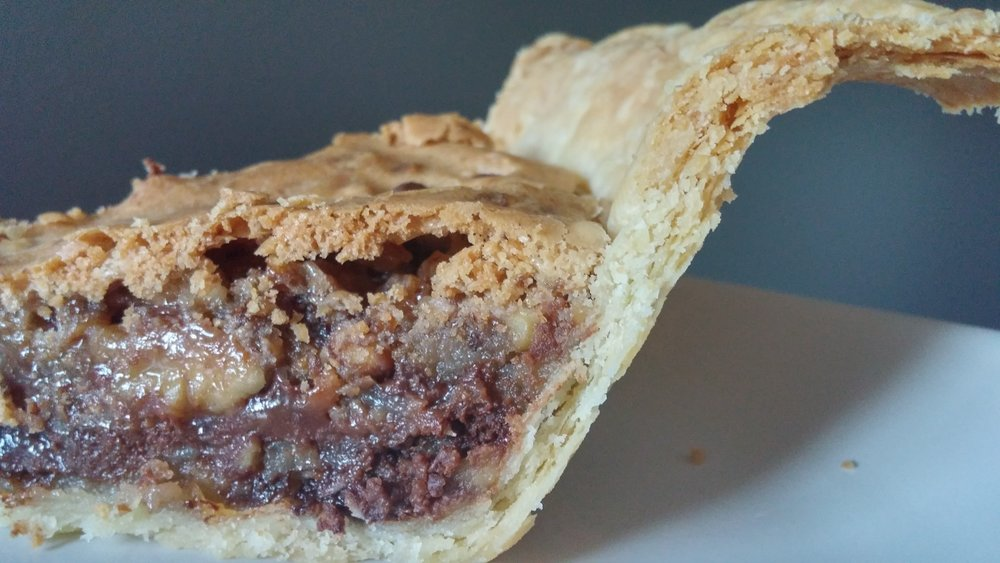 The easiest and most delicious pie you'll ever make. Chocolate chips, toasted walnuts and flaky pastry. Real Good Pie — Bake