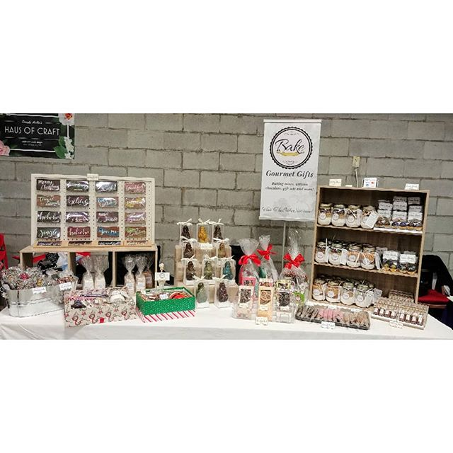 We're set up and ready to go at the Orangeville Christmas Market! We're here 11-4 today. 110 vendors, 4 food trucks, free face painting and SANTA! 🎅 . @orangevillechristmasmarket  #orangevillechristmasmarket  #shoplocal