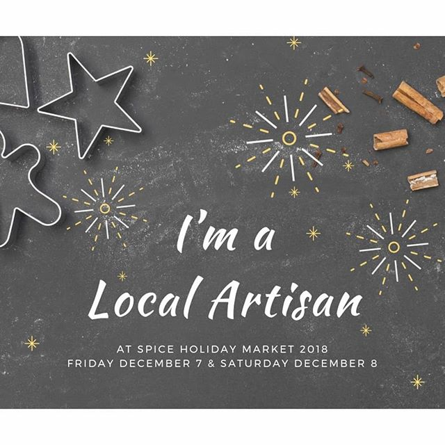 Wrapping up our holiday market season this weekend with my favourite event of the year! Don't miss @spiceholidaymarket this Friday and Saturday in Barrie!