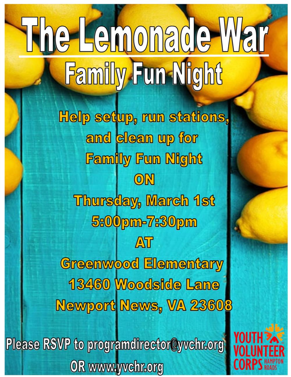 the lemonade war family fun night.png