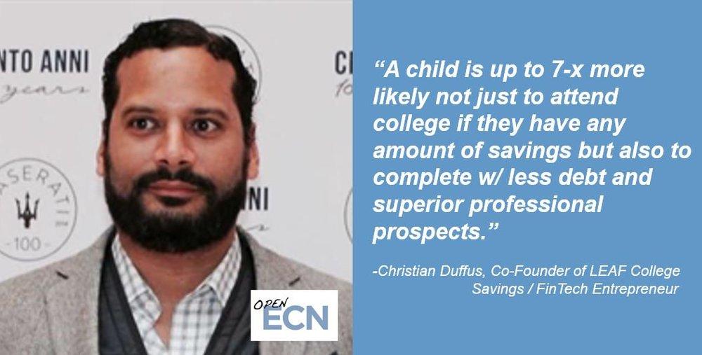 7x Effect Chris Duffus Leaf College Savings Quote