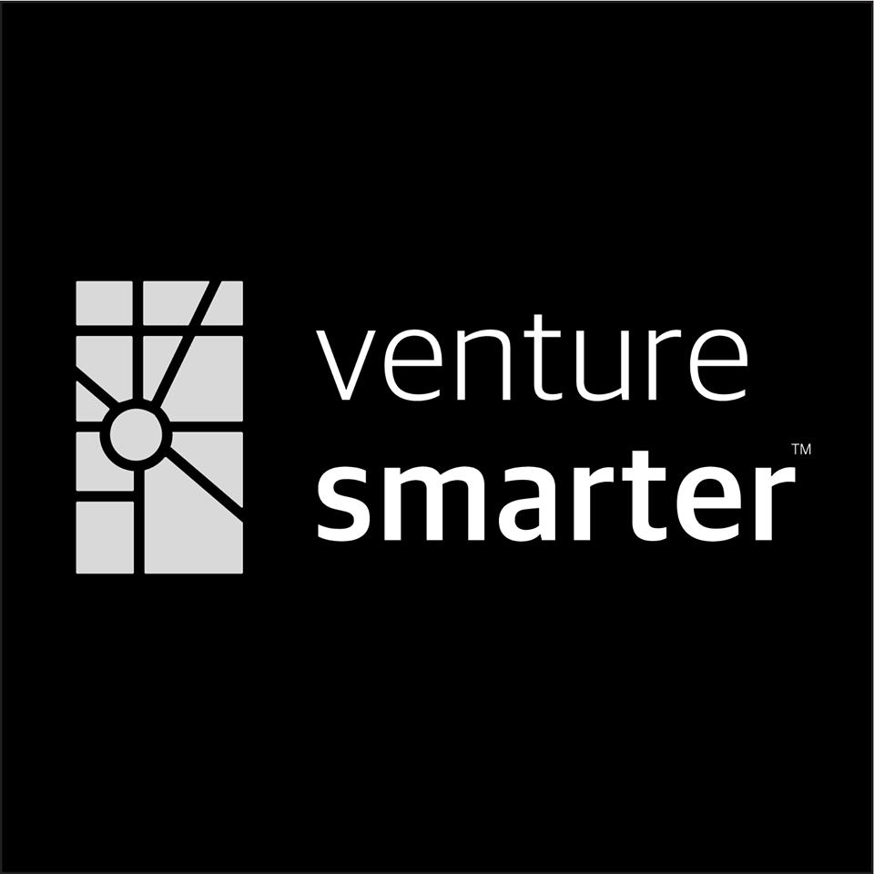 Venture Smarter Logo Black Background