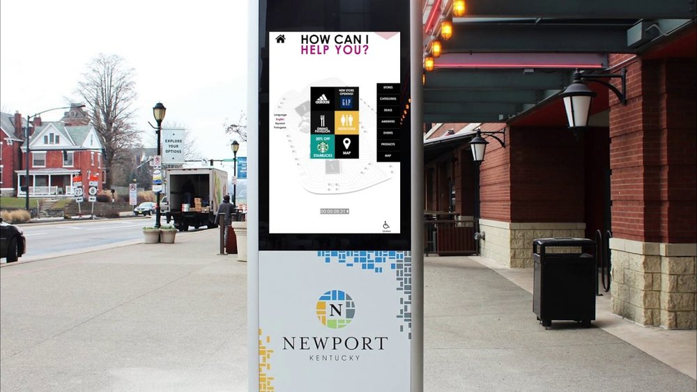 "In Newport, KY, smartLINK ""MyLo"" Kiosks were deployed, offering wayfinding and public information to visitors, collecting environmental and active traffic/pedestrian data, and delivering ads which generate revenue to the city. (1) Cutting the cost of citizen engagement (2) creative value with free wifi, wayfinding, and other tools (3) and generating revenue with advertising and data collection. A smart city trifecta!"