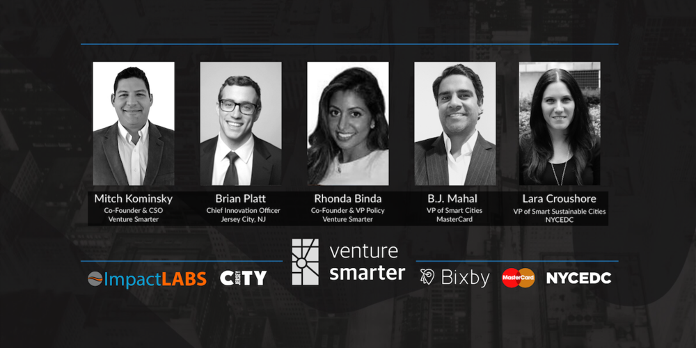Venture Smarter's NYC Smart City Leadership Summit Speakers & Sponsors