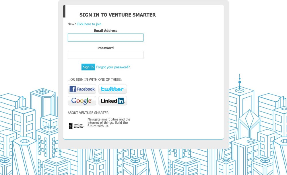 Click the image to request access to the Venture Smarter Portal!
