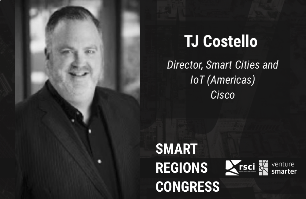 Cisco's TJ Costello shares his experience and offers advice to smart city planners at Venture Smarter's Smart Regions Congress in February of 2018.
