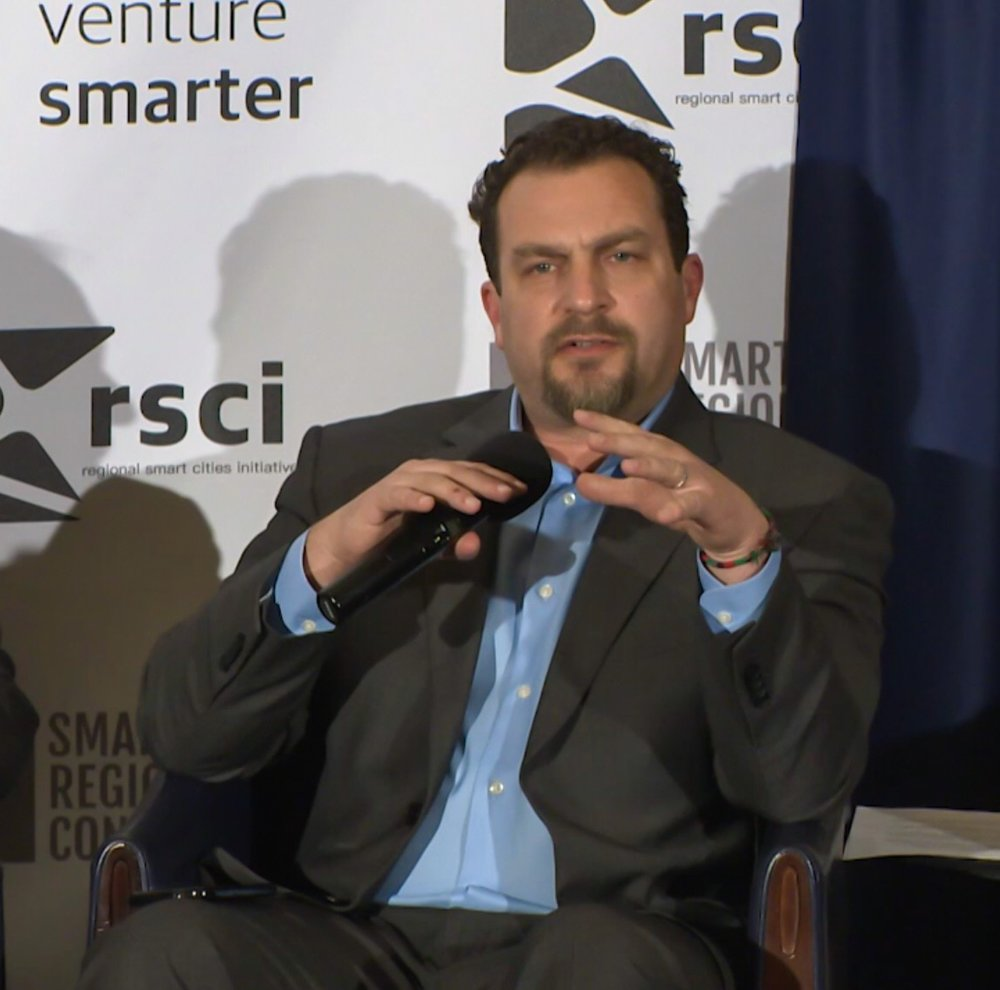 Chris Rezendes speaking on the Leadership Forum titled, The Internet of Everything:Connectivity and Security in Smart Regions, at the Smart Regions Congress in Washington DC.
