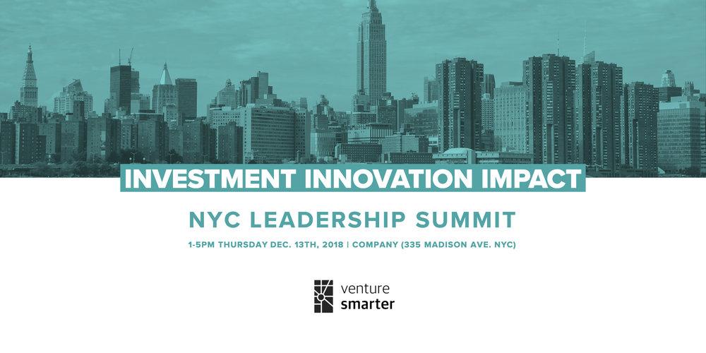 Venture Smarter NYC Summit