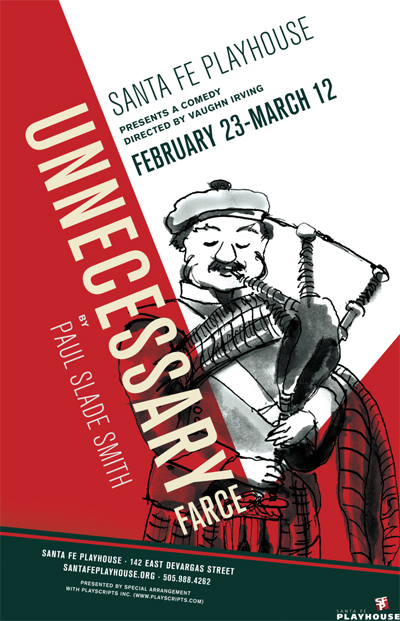 Gala Opening Night of Unnecessary Farce at The Santa Fe Playhouse