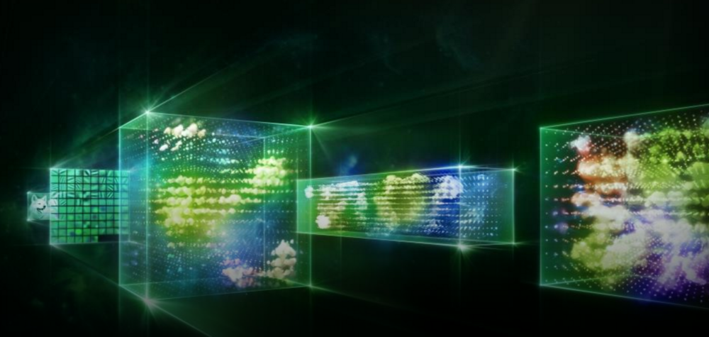 An abstract visual representation of a Neural Network being used for Image Recognition (Nvidia Marketing created Imagery)