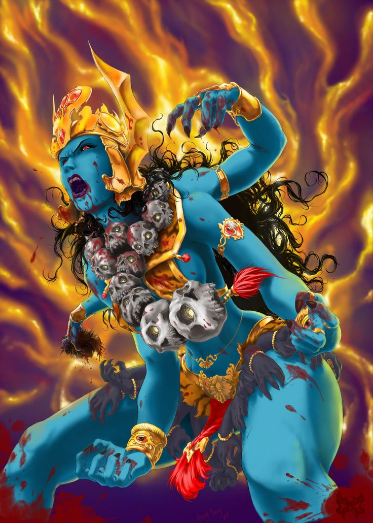 Modern renditions of Kali are often fierce and can be jarring. I love this one.