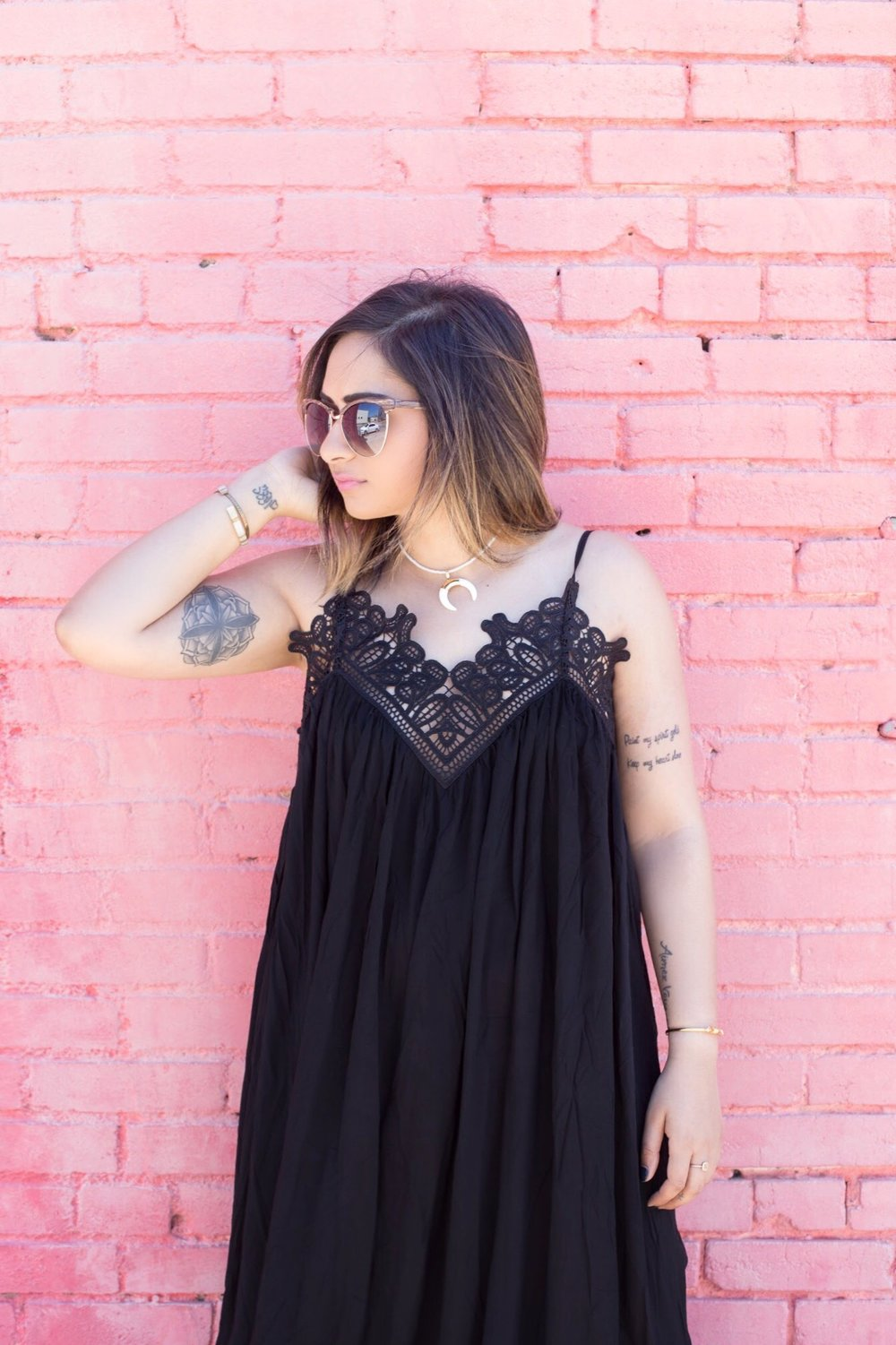 Black maxi lace top dress 4.JPG