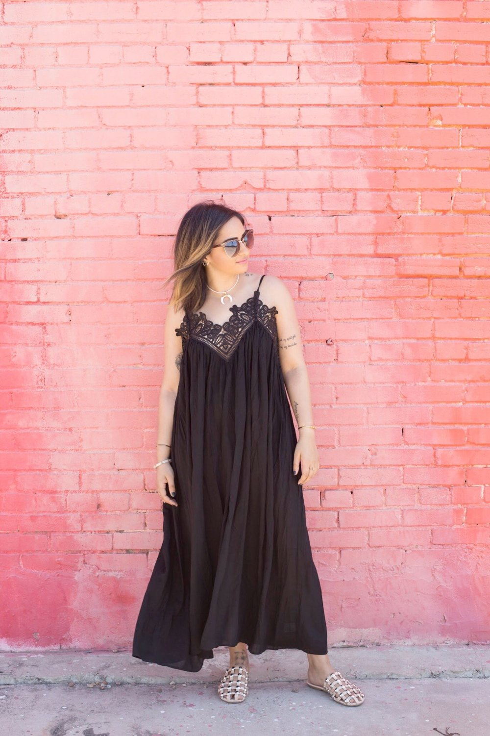 Black maxi lace top dress 3.JPG