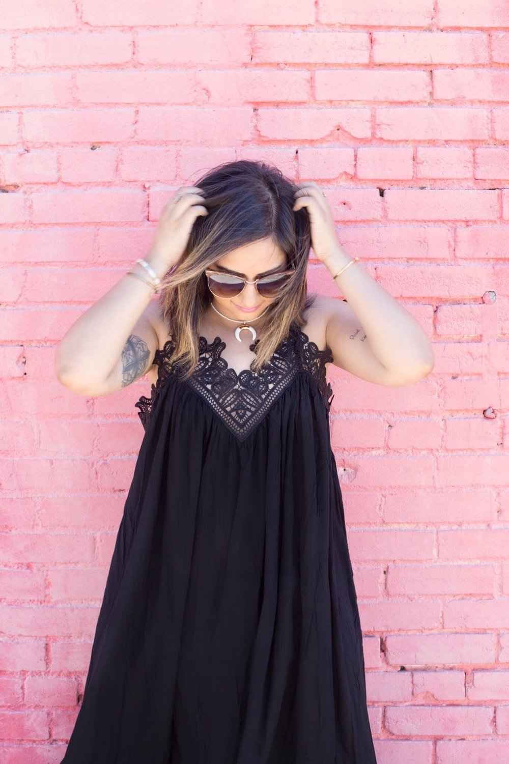 Black maxi lace top dress 5.JPG