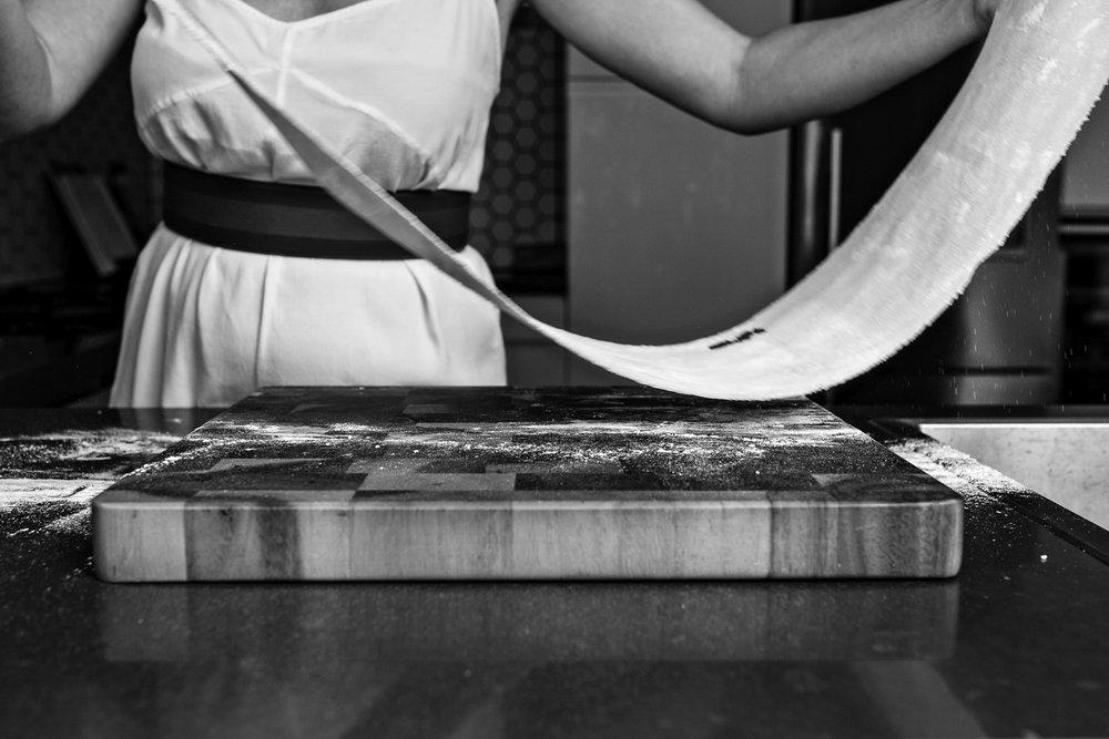 pasta preparation with katrina meynink food writer.