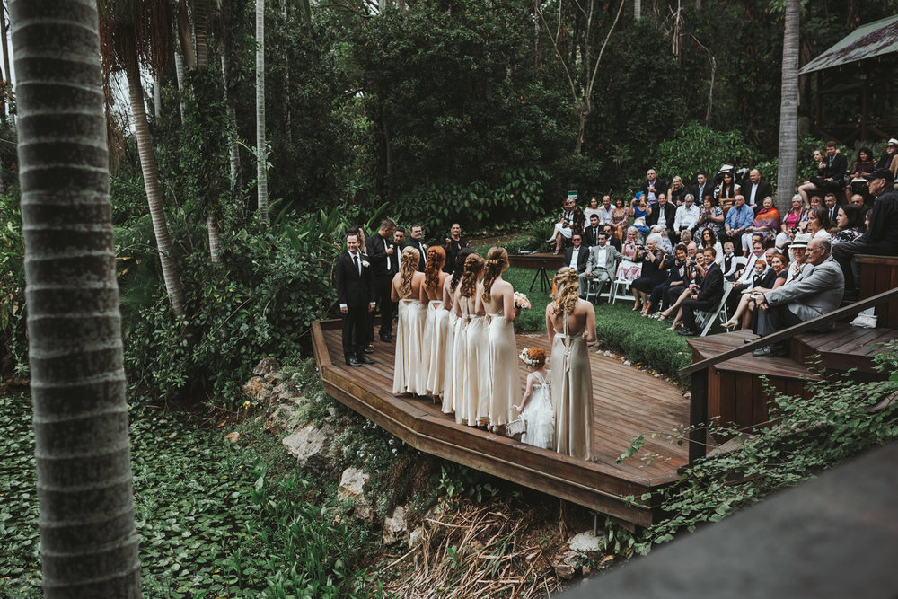 Wedding ceremony in rainforest by Siida Photography