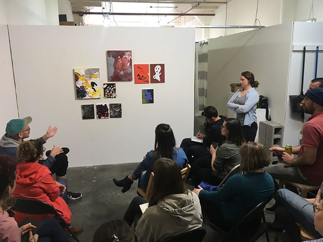 A big shoutout to @nicole.lian.aponte @beccahallstudio and @maryayling for the amazing work they each presented today at the ONE+TWO Critique! And a bigger Thank You to all of the audience members who gave their attention and feedback to these three artists! It was a full house! The next Critique will be in June- stay tuned for details... . . . #supportartists #support #bayareaart #bayareaartists #oneplusoneplustwo #crit #critiquegroup #letstalkaboutit #conversation #converse #sfart #sfartists #sfartscollective