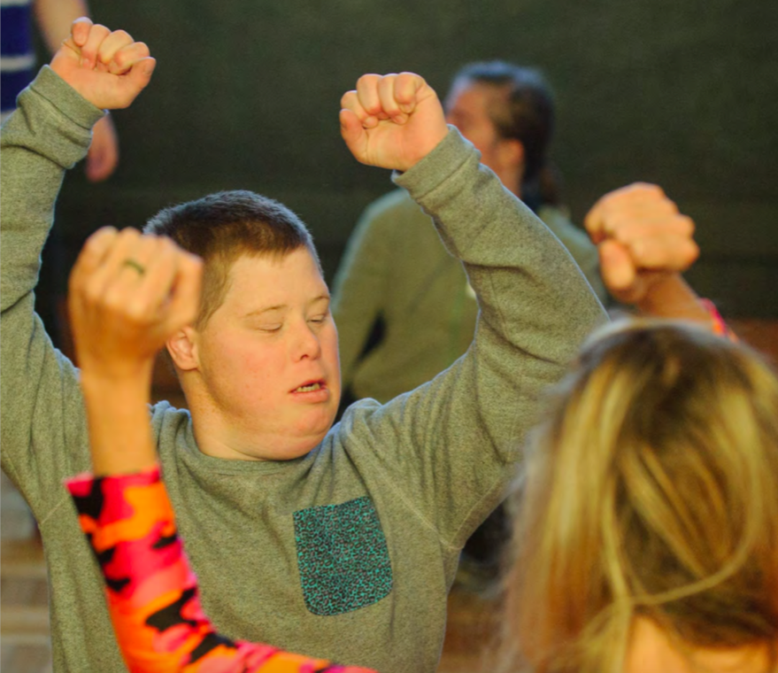 Top Notch Picture: young man dancing, front cover image.
