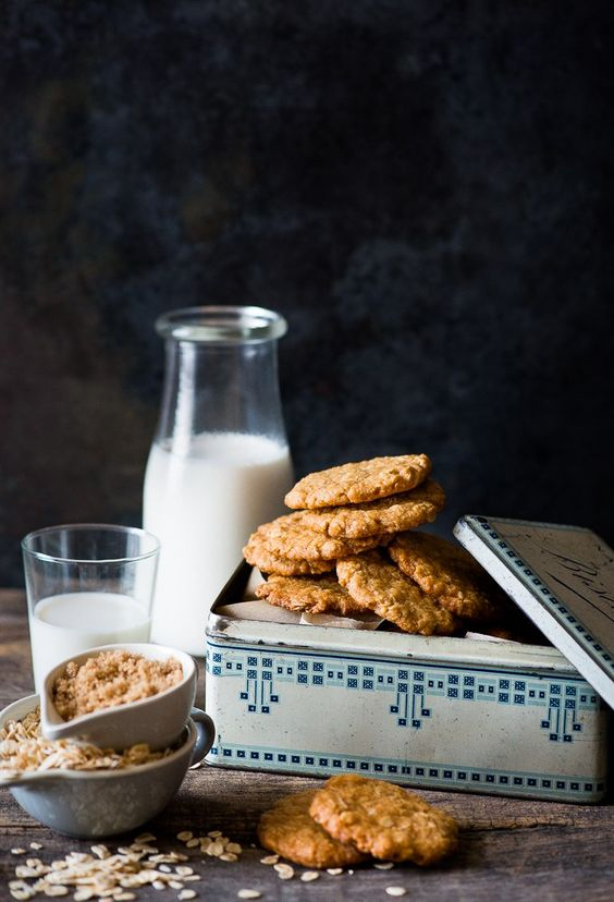 How can one resist a great Australian ANZAC biscuit! Image Credit: Pinterest