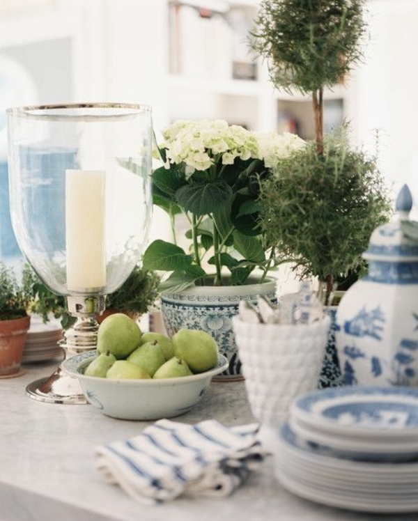 Potted Hydrangeas are the perfect way to have lasting flowers, when in season they add instant lasting colour.  Image source: Mark D Sikes