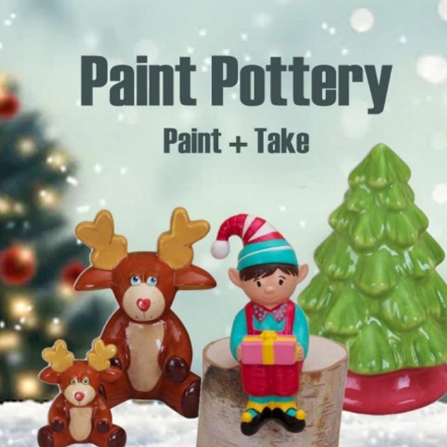 Join us this morning for pottery! We are open 11-3pm for paint and take pottery 🎄 All ages are welcome. . . . #plano #pottery #christmas #create #downtownplano #saturdayvibes #saturday #paint #christmastree #reindeer #elfontheshelf