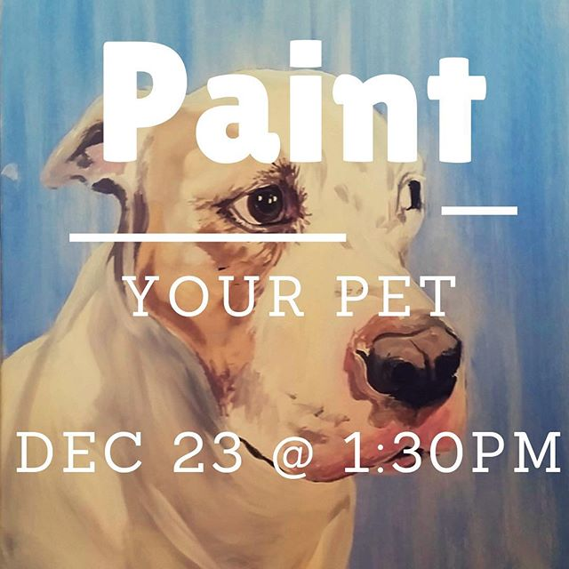 Looking for something fun for the whole family!? Come paint your pet tomorrow with us at 1:30pm! No skills needed, just come and bring your bottle of wine! Click the link in bio 👆🏻 to book your seats! . . . #plano #downtownplano #paintyourpet #christmas #allen #mckinney #richardson #fairview #murphy