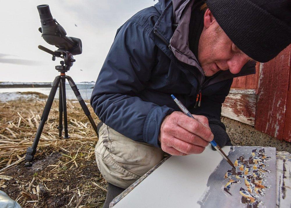 Gullfest 2015 James McCallum painting in Kiberg march © Biotope.jpg
